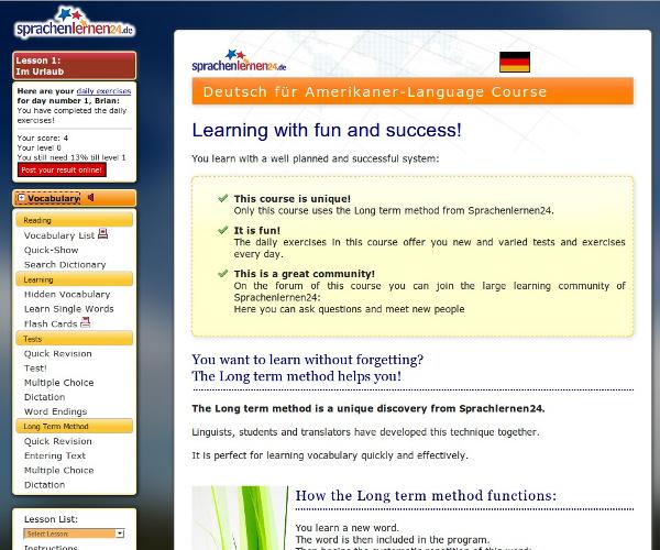 Deutsch Für Amerikaner Lernen Mit Langzeitgedächtnis Lernmethode